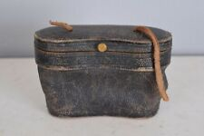 Antique Opera Glasses Leather Storage Case With Strap Remnant