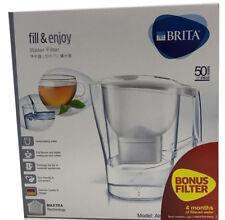Brita Aluna XL Jug Bonus 2 MAXTRA Filter Cartridges 3.5L Water Filter White New