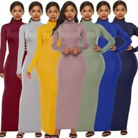 Women Fashion Plus Size Gown Canonicals Long Sleeve Sexy Tank Party Maxi Dress