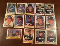 Lot Joe Niekro & Phil Niekro (14 cards) 1982 1983 1984 Topps Donruss Fleer  NRMT
