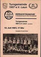12.07.1987 Turngemeinde 1907 e.V. Leun - Eintracht Frankfurt, 80 Jahre