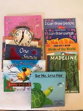 Lot of 9 Young Kids Books - board books - Madeline, How to Draw, Fairies