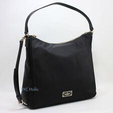 Kate Spade New York Blake Avenue Justyne Black Nylon Hobo Handbag Purse