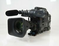 Panasonic AJ-HDC27HP Camera + Viewfinder + Zoom Lens + Case LA Pickup