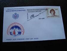 MONACO - enveloppe 1er jour 28/11/1997 (princesse charlotte) (cy63)