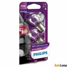 PHILIPS P21W 182 Vision Plus Rear Front indicator Bulb 12498VPB2 Twin Pack