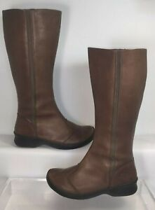 """KEEN 'Ferno High' Leather 14"""" Tall Riding Boots  Sz.7   Brown  1007663"""
