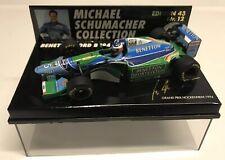 Minichamps Michael Schumacher 1994 #5 Benetton Ford B194 Hockenheim GP 1:43 NIB•