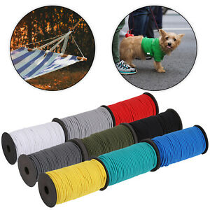 ELASTIC BUNGEE ROPE SHOCK CORD Tie Down Coloured Various Length Round 4mm
