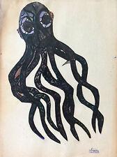 Pierre Ledda (1914-1994) Collage La pieuvre signé 2ème moitié XXè France