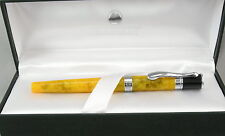 Monteverde Jewelria Yellow & Chrome Fountain Pen - Fine Nib - New - 50% Off