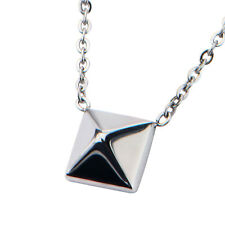 Pyramid Stainless Steel Pendant Necklace by INOX - New in Velvet Gift Pouch