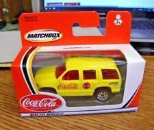 2002 Mattel Matchbox Diecast Coca-Cola Advertising Yellow Chevy Tahoe Nr Nip