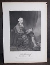 Antique 1862 Print John Hancock Alonzo Chappel