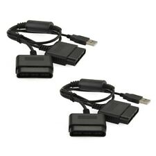PS2 Playstation 2 a PS3 USB Cable Adaptador Convertidor gamepad controlador de doble X 2