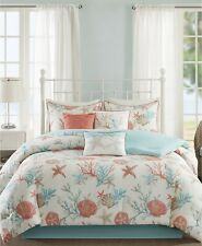 Madison Park Pebble Beach 7-Pc. Coral Starfish Cotton Comforter Set - KING