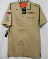 NIKE New Orleans SAINTS SALUTE TO SERVICE SIDELINE WOVEN BUTTON-UP MEN SHIRT