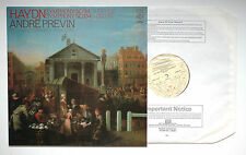 "HAYDN Symphony n.94 ""Surprise""/n.104 ""London"" PREVIN EMI CFP 4400 LP NM"