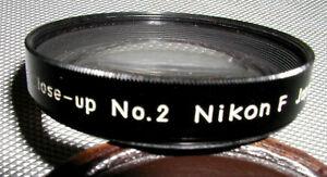 Nikon F Close up lens #2 NKK Case, Minty, FREE S/H