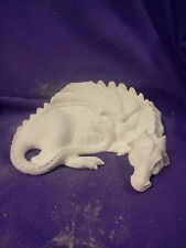 """Ceramic bisque Duncan Imaginary Sleeping Dragon 9"""" ready to paint"""