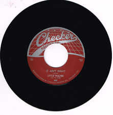 LITTLE WALTER - IT AIN'T RIGHT / WHO (Legendary Chicago Hot Blues Bopper) Repro