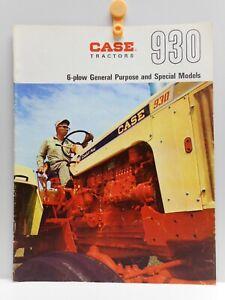 Vintage - CASE 6-Plow 930 Tractors Advertising Brochure - J. I. CASE CO. Toronto
