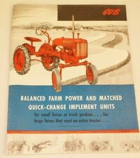 IH Farmall Cub 1947 Introductory Brochure 40 pages Implements Plows Planters etc