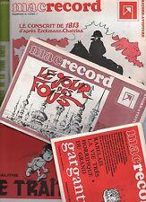 MACRECORD Lot des supplement 1 à 7. Bayard editeur. ETAT NEUF