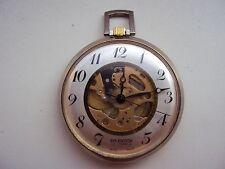 Vintage skeleton pocket watch Splendor 17 J Swiss made