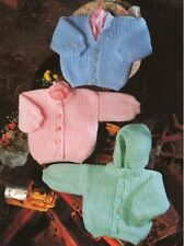 Knitting Pattern Baby's Easy Knit DK Cardigans & Jacket 36-56 cm    (88)