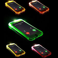 LED Flash Rappeler aux Entrants Appel TPU étui coque pour iPhone 6s 7 7 Plus
