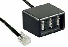 Telefon Adapter RJ11 Stecker auf 3 TAE Buchsen 2x TAE-F 1x TAE- N Fritzbox 0,2 m