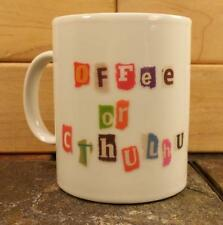 """""""Offee or Cthulhu"""" Ransom Note Coffee Mug Cup Science Fiction Horror Roleplaying"""
