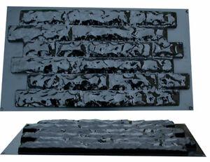 Giessformen Schieferstruktur Beton Gips Formen Schalung Wandverblend 1 Stück W25