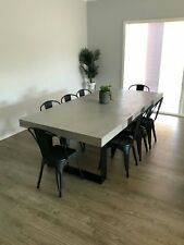 Concrete Dining Table - Steel  loop legs - Made to order