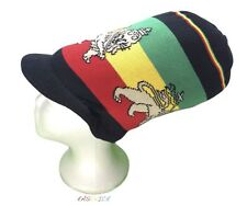 Lion Of Judah Hat Rasta Peak Cap Reggae Jamaica Marley Africa Dread Irie M/L New