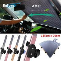 155*70cm Aluminium Auto Car Retractable Windshield Sun Shade For Front Window *)