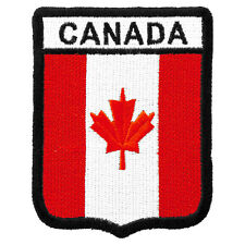 Canada Flag Shield Patch, Canadian Patches