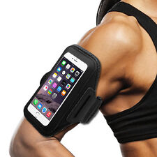 ZTE MAX BLUE Black Sports Band Arm Holster Running Workout Cell Case C