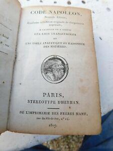 code napoleon 1807 code civil reliure d'époque