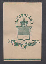 Heligoland H&G E1 used 1878 2f/3pf Wrapper