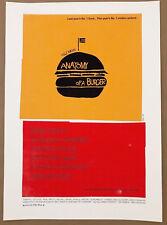 Olly Moss ANATOMY OF A BURGER Poster Saul Bass Movie Print Mondo Godfather Bebop