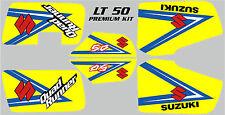 Suzuki LT 50 Premium Gráfico Kit. Amarillo, Rojo, Blanco Y Rosa