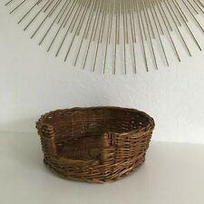 🦊 Petit Panier Ovale en Osier Rotin Pour Chien Ou Chat Vintage