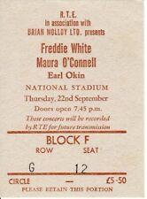 Freddie White / Maura O'Connell - ORIGINAL concert ticket - Dublin - 22.09.1988