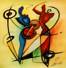 """Rhythm & Blues"" by Alfred Gockel (Fine Art Painting on Canvas Music)"