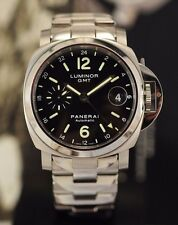 SWISS PANERAI LUMINOR GMT PAM 244 OP6768 S. STEEL 40 MM AUTOMATIC  MAN WATCH
