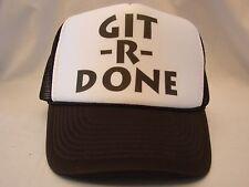 Vintage Trucker Hat Cap Snapback Git -R- Done Euc