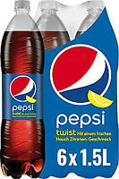 6 BOTTIGLIE PEPSI TWIST COLA PET 1500ML  LT 1,5 X 6  NOVE LITRI