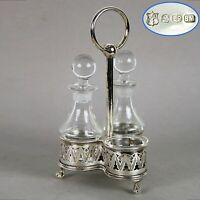 Antico Silver Condiment set condimento in argento sheffield plated olio aceto